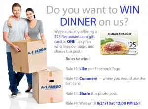 Win A Free Meal On Us!