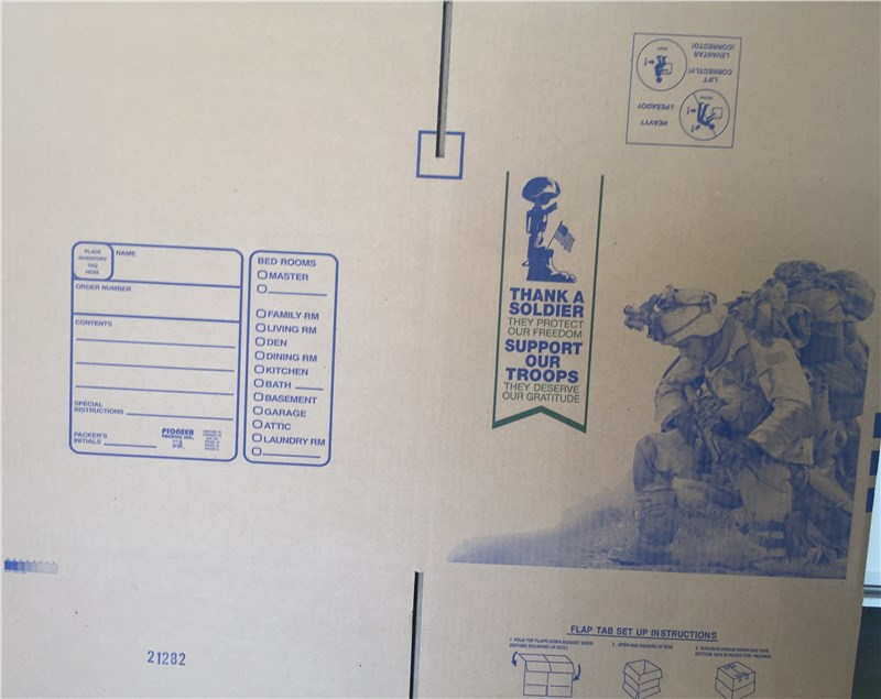 Support US Veterans with Military Moving Boxes