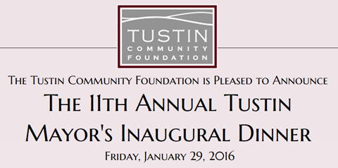 Tustin Mayor's Inaugural Dinner Charity Event