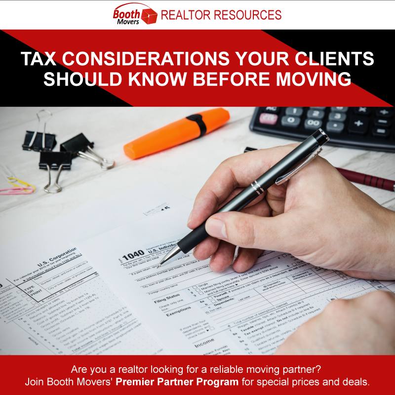 Tax Considerations Your Clients Should Know Before Moving