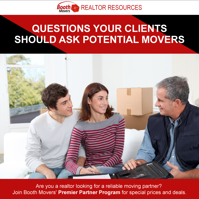 Four Questions Your Clients Should Ask Potential Movers