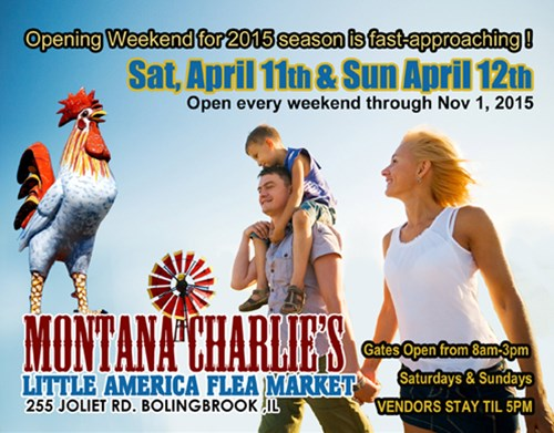 Opening Saturday - Montana Charlie's Little America Flea Market!