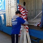 Burgess Relocation Provides Flag Transportation for Healing Field Flag Display