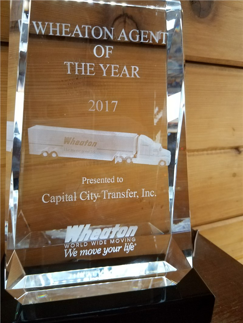 Capital City Transfer is Moving Agent of the Year!