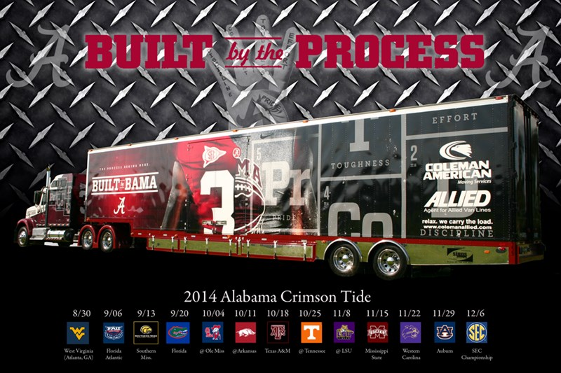 Coleman Allied - Official 2014 Mover for Alabama Crimson Tide Football