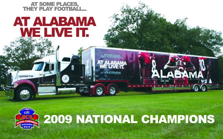 Coleman Hauls For The 2010 National Champions Alabama