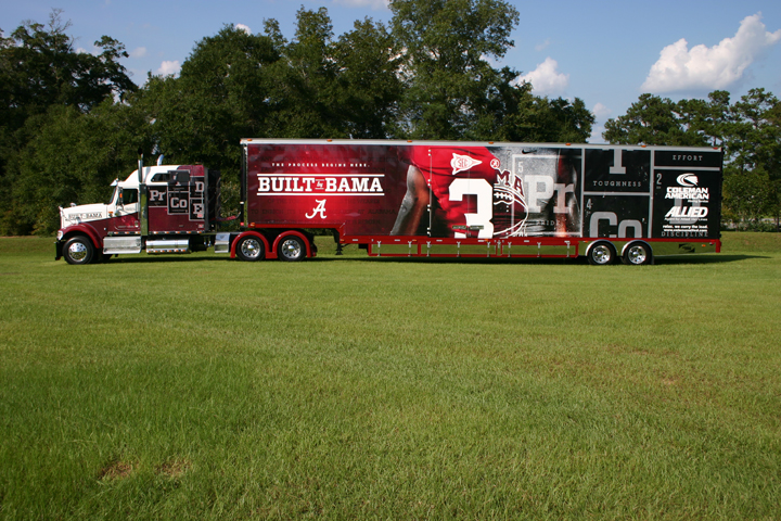 Built By Bama - 2012 Alabama Football Tractor and Trailer