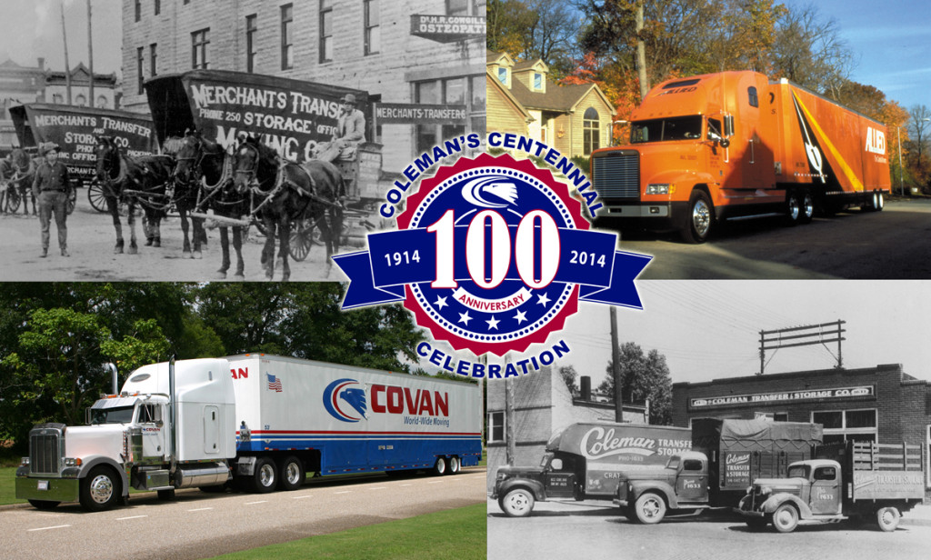 Coleman 100th Anniversary Collage