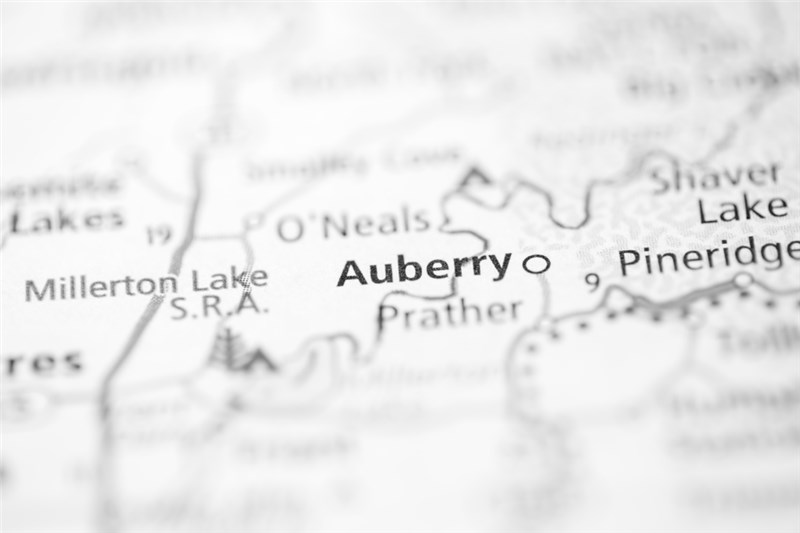 Auberry Map