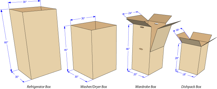 Moving boxes dimensions