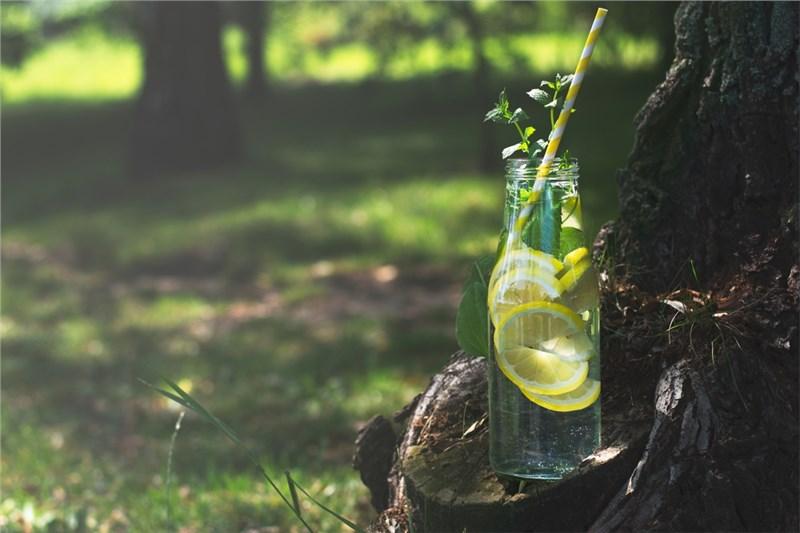 water in bottle