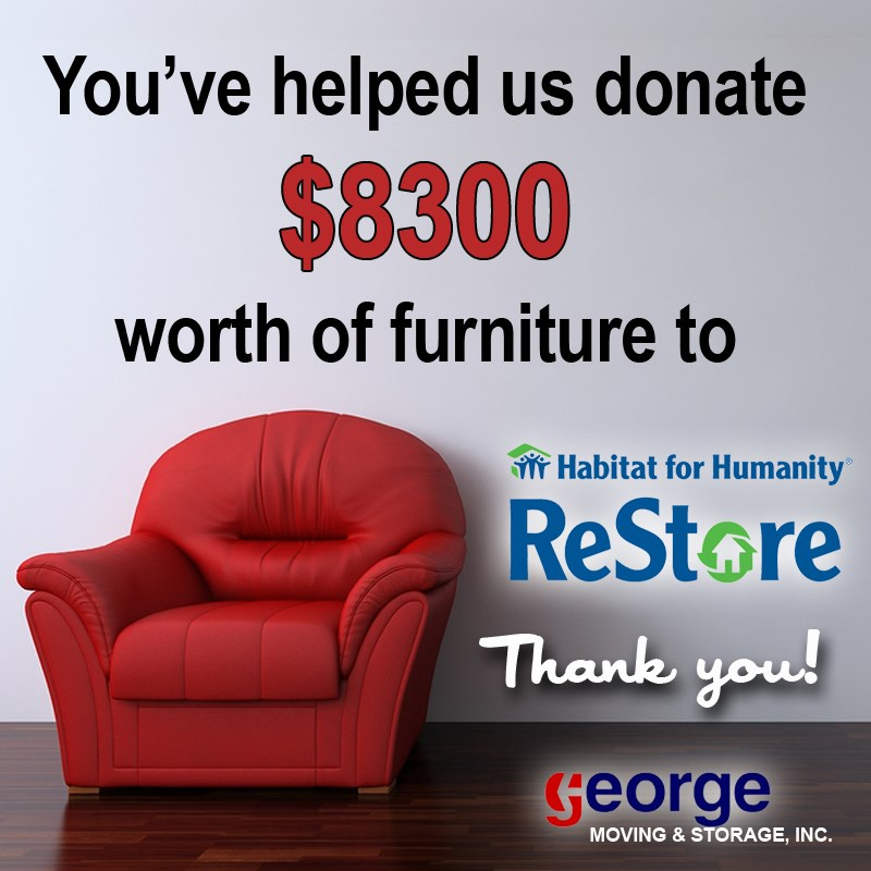 George Supports Habitat For Humanity Restores Through 8 000 Donation Blog George Moving And