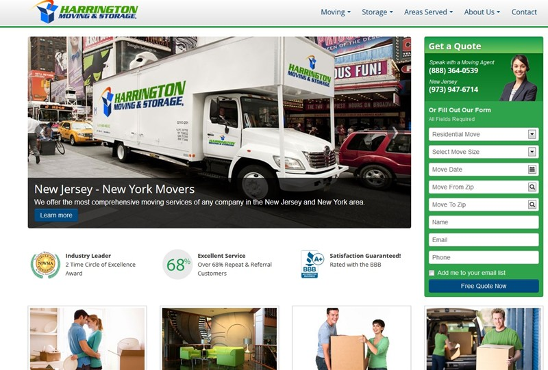 Harrington Moving & Storage Launches New Website!