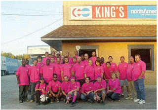King's Moving & Storage Wears Pink!