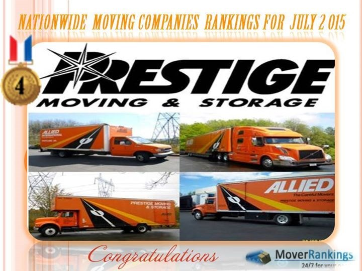 Voted 4th Best Moving Company Nationwide in July 2015!