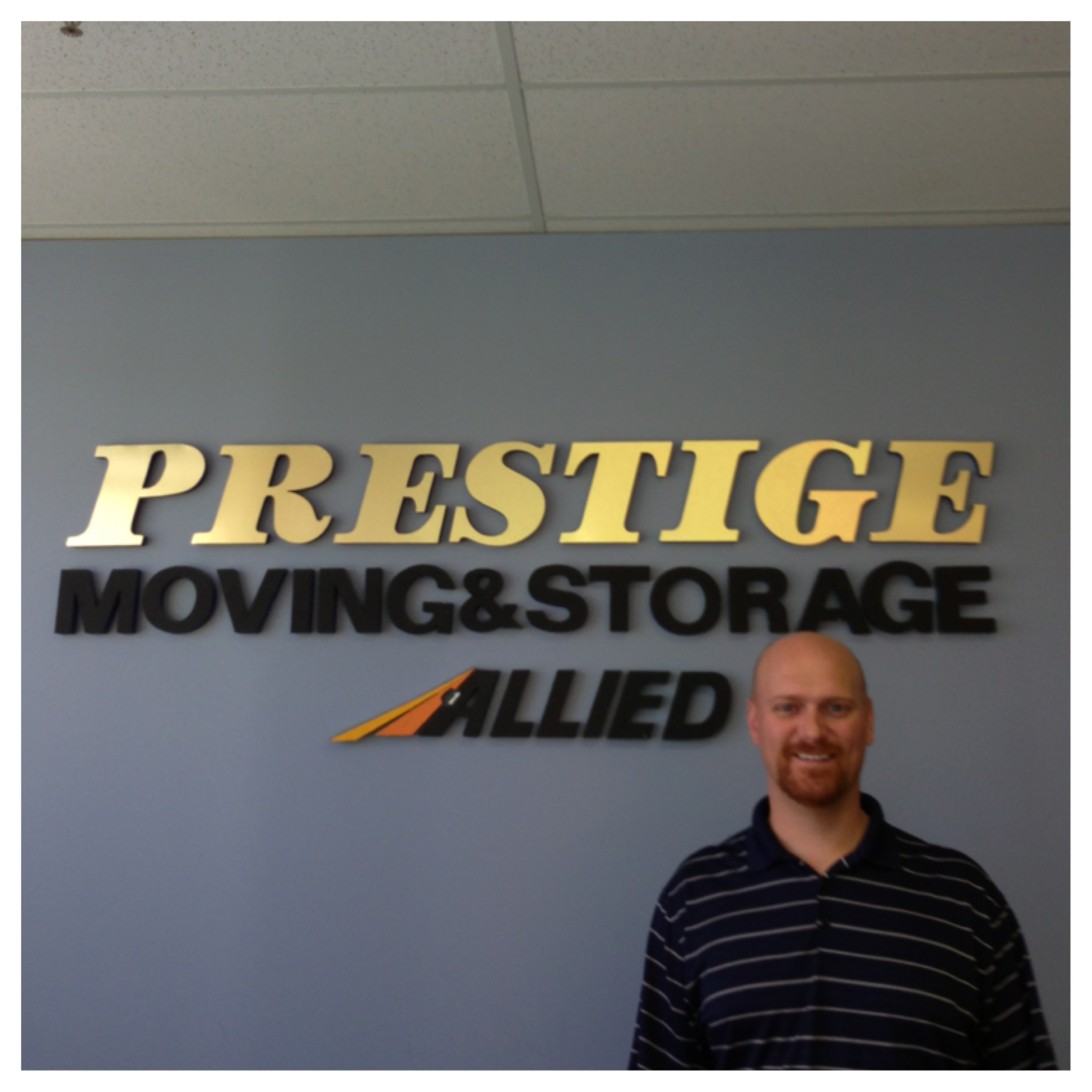 Congratulations to Brad Bagent for 9 Years of Service With Prestige Moving & Storage