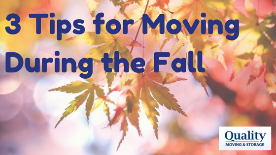 3 Tips for Moving During the Fall