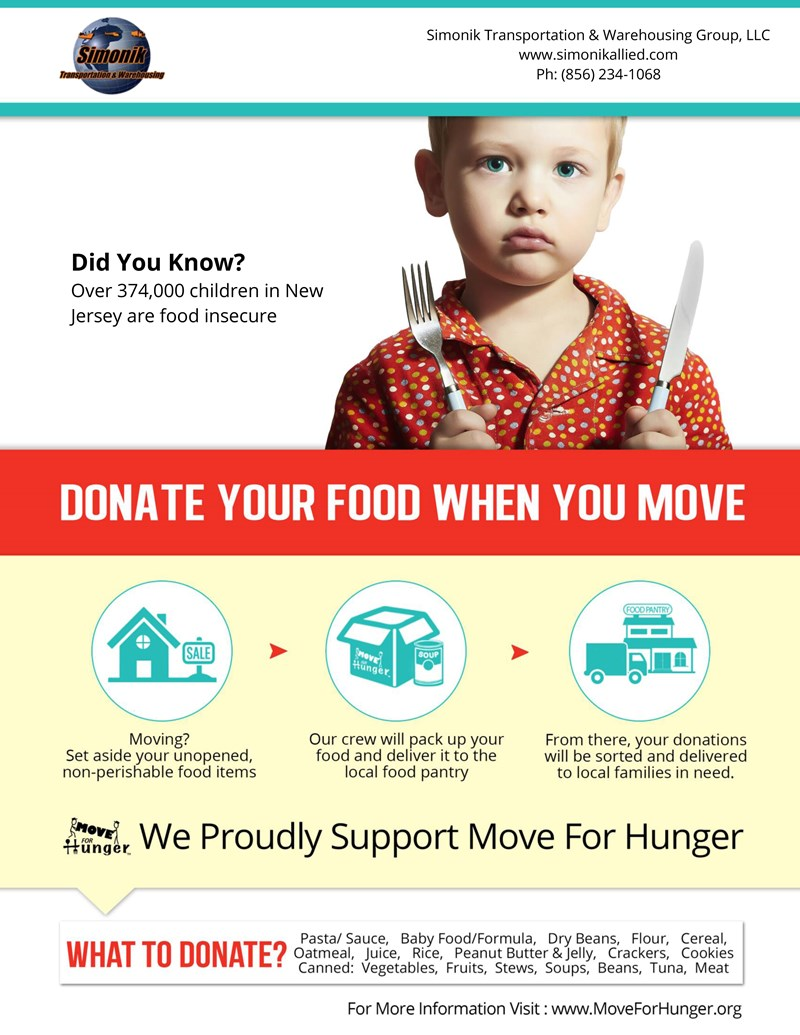 Unwanted Food? Donate to Move for Hunger