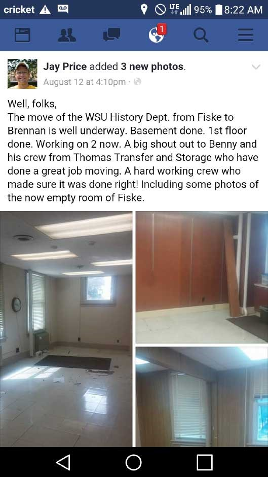 WSU Professor Recognizes Thomas Transfer & Storage Crew for a Job Well Done