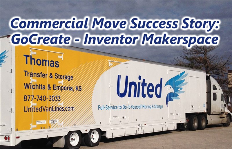 Thomas Transfer Moves Equipment for GoCreate - Makerspace for Wichita Inventors