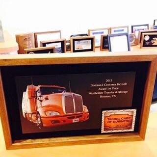 Westheimer Transfer Wins Allied Van Lines Quality Award