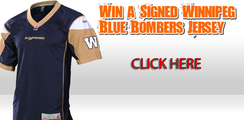 Win A Signed Winnipeg Blue Bombers Jersey