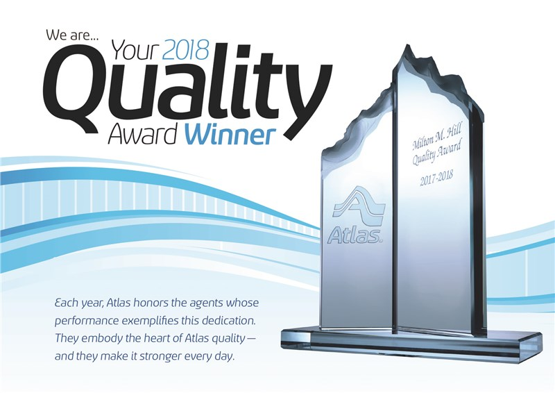 Apex Moving and Storage Receives the Milton M. Hill Quality Award