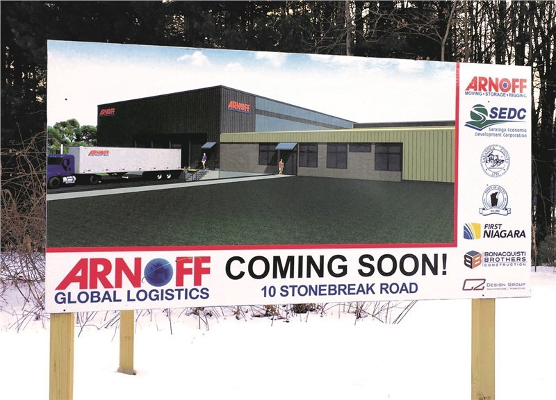 ARNOFF NEARING COMPLETION OF GLOBAL LOGISTICS HUB IN MALTA NY STRATEGICALLY LOCATED 100,000SF SITE WILL BE OPERATIONAL IN FEBRUARY