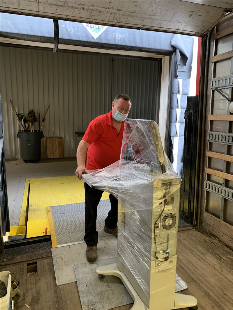 Mike moving pieces from an office relocation in Poughkeepsie
