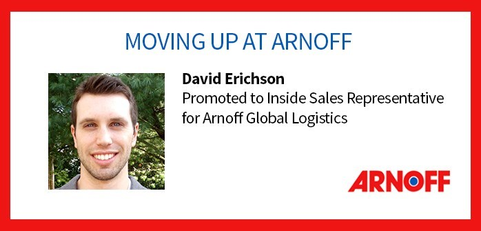 Arnoff  Announce David Erichson's Promotion to Inside Sales Representative