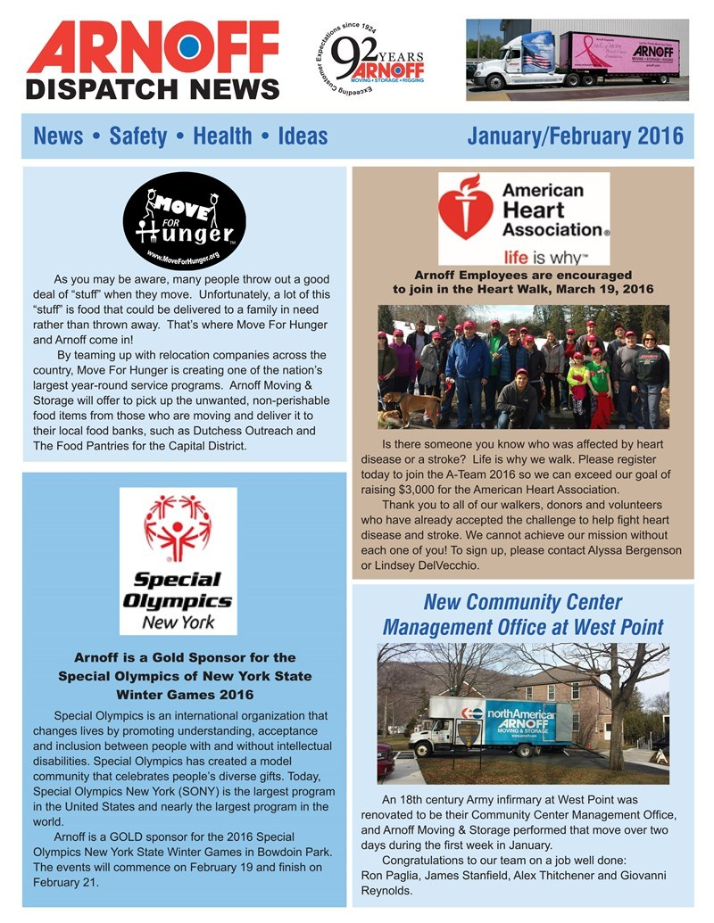 Arnoff January/February Newsletter