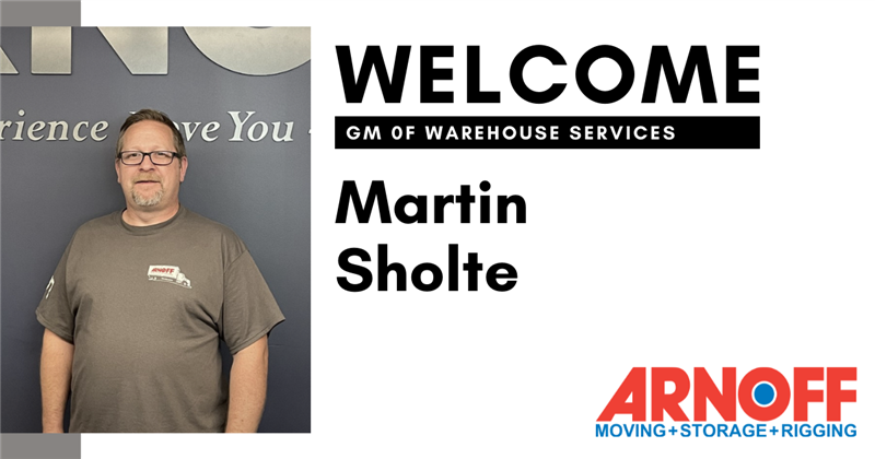 Martin Scholte Joins Arnoff Moving & Storage as General Manager of Warehouse Services