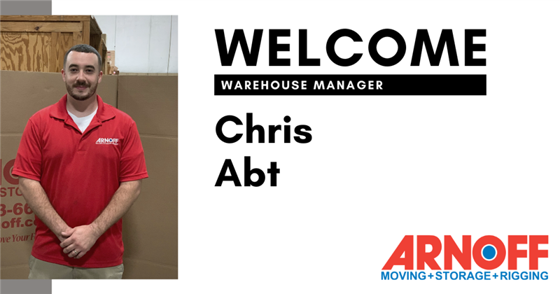 Arnoff Moving & Storage Welcomes New Warehouse Manager