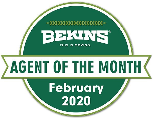 Bekins of South Florida Awarded Agent of the Month for February 2020