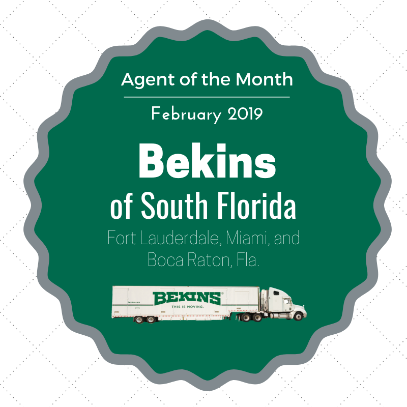 Bekins of South Florida Selected for Agent of the Month