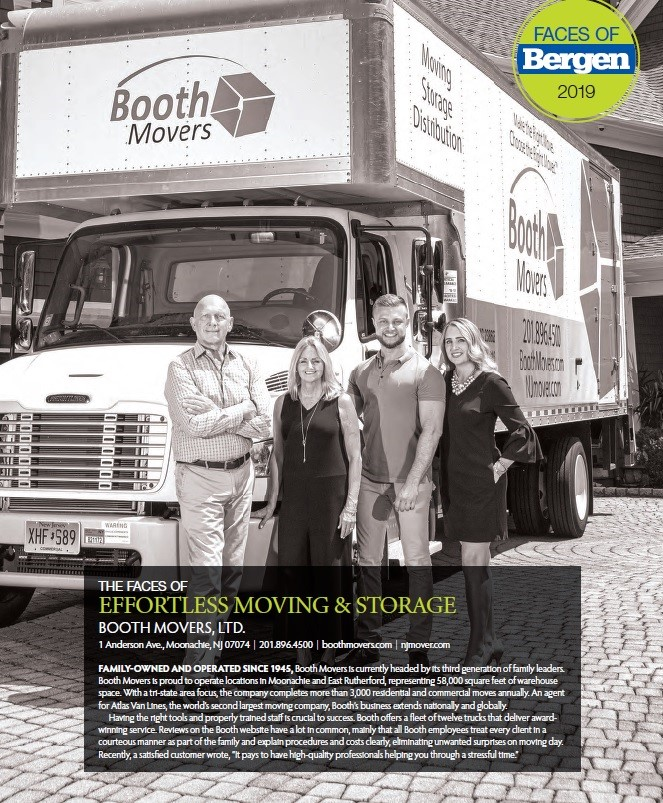 "Booth Movers Featured in Bergen Magazine's ""Faces of 2019"" Series"