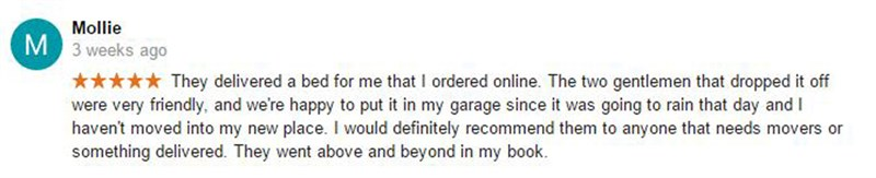 Congratulations To Our Google Review Contest Winner - Mollie!!