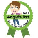 Angie's List 2012 Super Service Award!