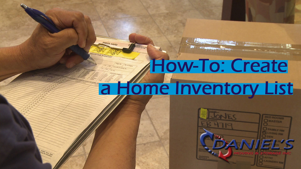 How To Create A Home Inventory And Packing List