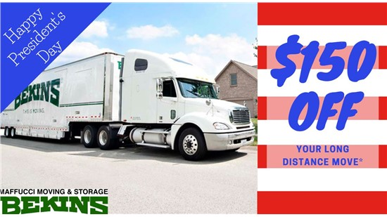 PRESIDENT'S DAY SALE: Save $150* on a Long Distance Move Today!