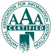 NAID AAA-Certified for Records Destruction Security