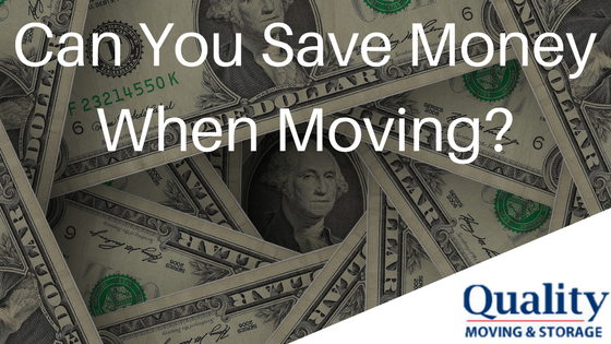 Can You Save Money When Moving?