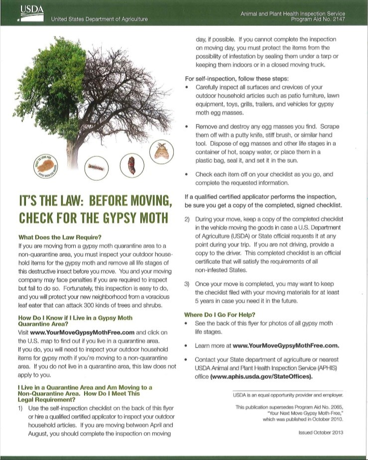 Gypsy Moths and Lanternflies - Help End the Spread of These Pests