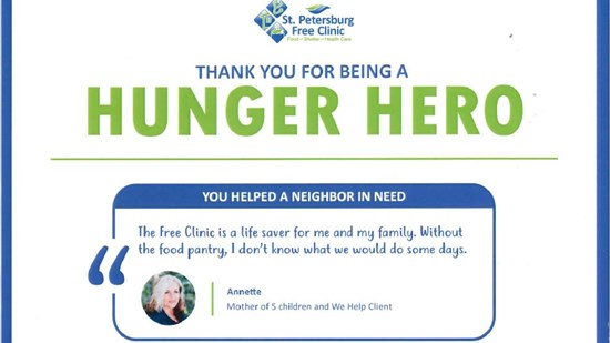 Proud to be a Hunger Hero!