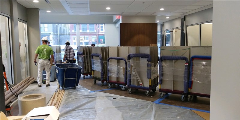moving office during construction