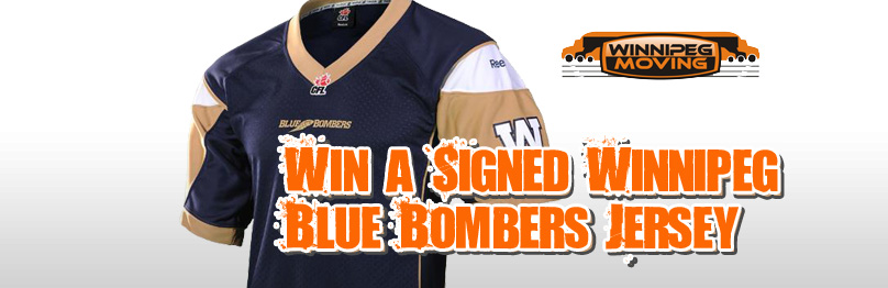 Win a Signed Blue Bombers Jersey from Winnipeg Moving!