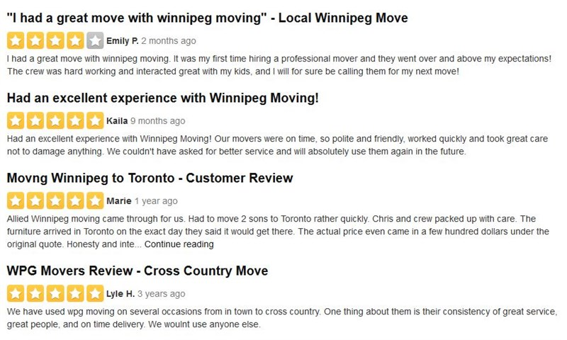 Let Us Know What You Think of Winnipeg Moving